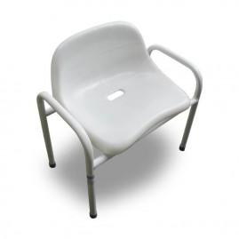 Szerokie krzesło prysznicowe